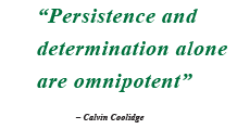 Persistence and determination alone are omnipotent